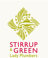Stirrup and Green Lady Plumbers logo